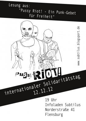 Pussy Riot Lesung Flyer